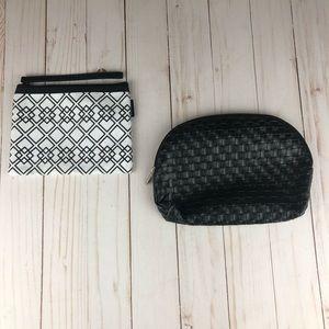 Sephora makeup bag pair black and white